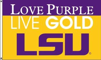 LSU Love Purple 3x5 - Polyblend