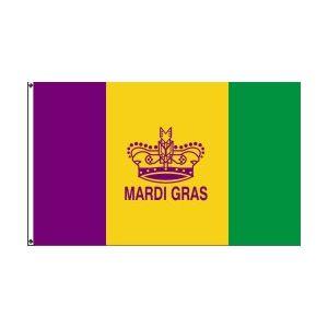 Mardi Gras Crown 3×5 – Polyblend