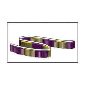 "Metallic Finger Pennant Purple Gold 11""x 60′"