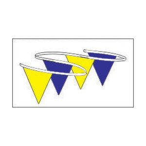 Pennant Bl Yellow 12×18 – 100′ Poly Plastic