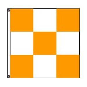 Orange-White-Checkered-3×3-nylon