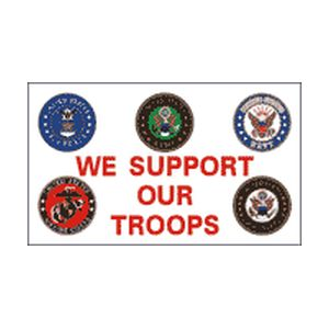 We-Support-our-Troops-with-badges-3×5-Polyblend