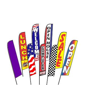 Advertising Swooper Flags